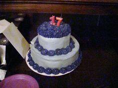 Birthday cake, purple, layers, pearls, swirls