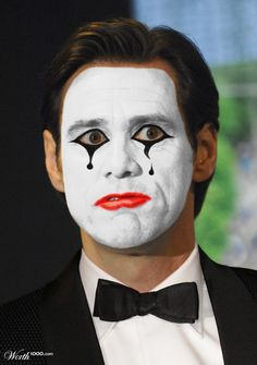 Creepy Killer Clowns: Celebrities As Clowns - Celebrities As Clowns Are Haunting And Oddly Tra. Creepy Clown Makeup, Mime Makeup, Scary Clowns, Soirée Halloween, Halloween Costume Contest, Halloween Makeup, Costume Ideas, Pantomime, Mime Face