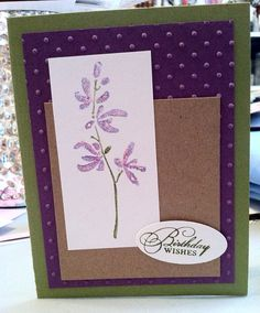Beautiful Homemade Birthday Card with Flowers by knitnifty on Etsy