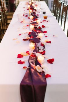 Wedding table centerpieces, Long table wedding, Wedding floral centerpieces, Wedding reception decorations, Wedding petals, Elegant wedding reception - By now, you've probably decided what your wedd -  #Weddingtable #centerpieces
