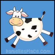 Paper Plate Cow Bible Craft www.daniellesplace.com.  Fat cow from Pharaoh's dream
