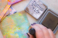 Working with Distress Oxide Inks - Amazing! - The Graphics Fairy