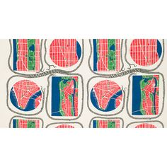 Textile Manhattan 315 Linen. From 1942-1946, Josef Frank lived and worked as a visiting professor at the New School for Social Research in Manhattan, New York. Frank found Manhattan's city plan so interesting in its brutal simplicity that he created the Manhattan design which includes a map of the island.