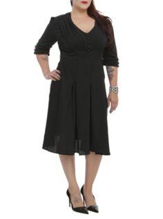 Hell Bunny Black June Dress 4XL