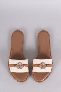 7de43769a859 Bamboo Canvas Coin Ornament Slide Sandal Athletics