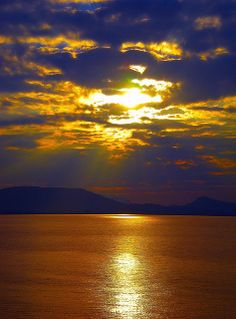Purple and Gold . Beautiful World, Beautiful Images, Simply Beautiful, Rhodes Island Greece, Lightning Images, Beautiful Sunrise, Greece Travel, Mother Nature, Nature Photography