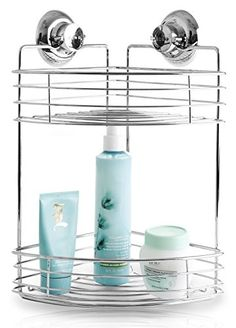 BINO SMARTSUCTION Chrome Shower Organizer, 2-Tier Corner Shelf BINO http://www.amazon.com/dp/B00W48DAHQ/ref=cm_sw_r_pi_dp_7k6zvb1ZDBB7B