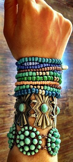 Turquoise stack style   LBV ♥✤