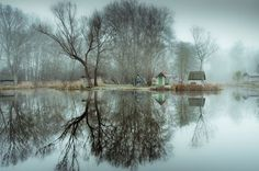 fishing lake in hungary looks frozen in time 2 This Hungarian Fishing Lake Looks Frozen in Time (11 Photos)