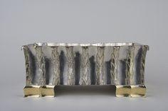 Dagobert Peche b. 1887, St. Michael im Lungau  d. 1923, Mödling bei Wien Jardinière, Zurich ca. 1919 Silver, partial gilt overall: 13.6 cm x 30.8 cm x 16.2 cm Neue Galerie New York.