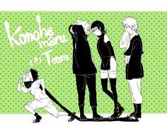 Konohamaru, Boruto, Sarada, and Mitsuki Yamanaka Inojin, Mitsuki Naruto, Naruto 6, Boruto And Sarada, Naruto Teams, Naruto Fan Art, Naruto Shippuden Anime, Sasuke Uchiha, Team Konohamaru