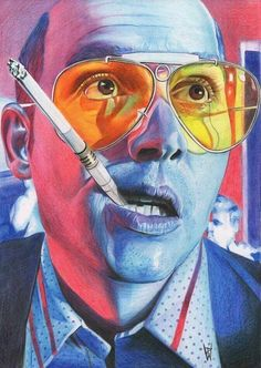 Depp - Fear and Loathing in Las Vegas - Poster - Home Apparel art Pop Culture Illustrations by Flore Maquin Psychedelic Art, Arte Dope, Arte Black, Black Art, Fear And Loathing, Psy Art, Kunst Poster, Movie Poster Art, Art Posters