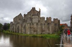 The Castle of the Counts of Flanders Gravensteen that I wanted to visit first. Located in the heart of the city of Ghent (Gand), Belgium. This tour is worth it