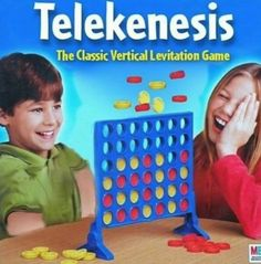Telekinesis The Classic Vertical Levitation Game - Funny Memes. The Funniest Memes worldwide for Birthdays, School, Cats, and Dank Memes - Meme Connect Four Memes, Best Memes, Dankest Memes, Stupid Funny Memes, Hilarious, Funny Stuff, Funny Images, Funny Pictures, Clean Memes