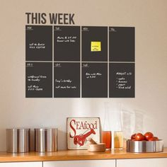 If I plan my week better I'd achieve more. I like this wall planner