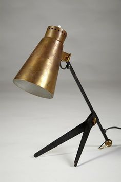 Table lamp, anonymous. Itsu, Finland. 1950's.  Brass and lacquered brass.