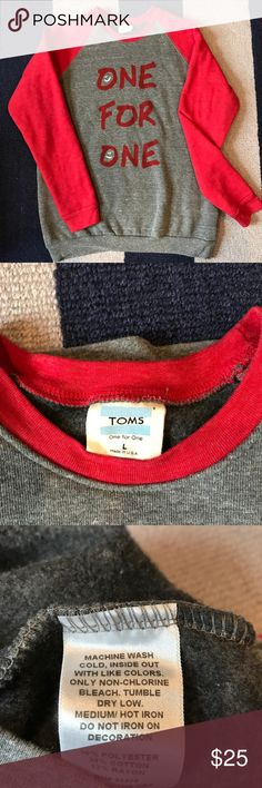 TOMS sweatshirt Made in the USA Women's TOMS one for one sweatshirt. So soft! Great condition, only worn once. Toms Tops Sweatshirts & Hoodies