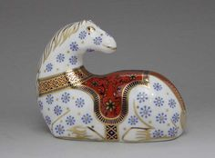 Royal Crown Derby paperweight Zodiac horse