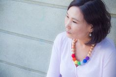 Excited to share this item from my shop: Juniper Rainbow Nursing Necklace - Modern Trendy Natural Babywearing - Ethnic Crochet - Smelling Wood Etsy Handmade, Handmade Jewelry, Unique Jewelry, Handmade Gifts, Tactile Sense, Nursing Necklace, Fine Motor Skills, Baby Wearing, Crochet Necklace