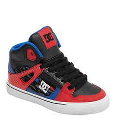 Take a look at this Red & Blue Spartan SE Hi-Top Sneaker by DC on #zulily today!