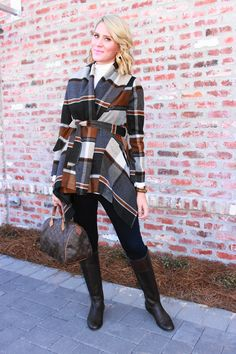 Belle de Couture: Fall Fave #plaid #fallstyle #chicwish #louisvuitton #wrapcoat