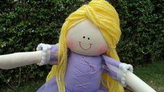Boneca de pano Rapunzel