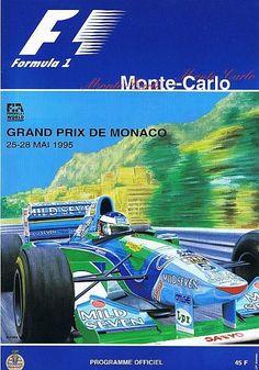 1995 Monaco Grand Prix Event Poster I went to this one! Michael Schumacher, Monte Carlo, Formula 1, Gp F1, Monaco Grand Prix, Racing Events, Car Advertising, Vintage Racing, Courses