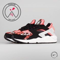 #nike #nikeair #nikehuarache #hotlava #sneakerbaas #baasbovenbaas  Nike Air Huarache Run PA 'Hot Lava' - This Air Huarache Run PA 'Hot Lava' has a black/pink upper with a pink aztec pattern on the toebox and a pink neopreen inner sock.  Now online available | Priced at 124.99 EU | Men Sizes 40 - 46 EU