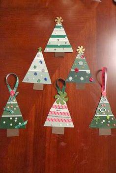 Artesanato de Natal arvore artesanal de enfeite
