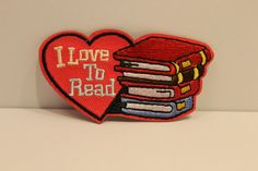 I Love To Read Patch 1  reading scout by GreyguyIndustries on Etsy