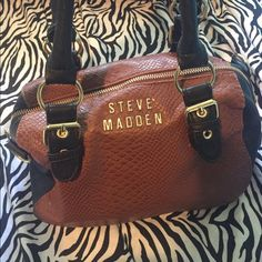 Steve Madden Purse Brown and black w/ gold hardware. Steve Madden Bags Mini Bags