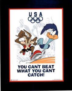Looney Tunes Olympics Roadrunner & Coyote Prints at AllPosters.com