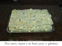 Torta de Pão de Forma Vegetariana | Culinária Inteligente