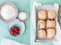 piroggi.com | Coconut milk Scones with Raspberries