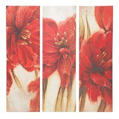 "View 10"" x 32"" Floral 3-Piece Art Set Deals at Big Lots"
