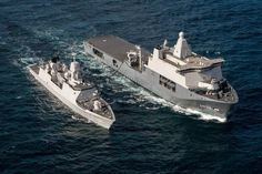 Royal Netherlands Navy PCU Karel Doorman on Trials Escorted by HNLMS Tromp.