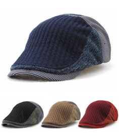 $7.58 Men Solid Wool Beret Cap  |mens fashion|winter outfit|mens caps|men style