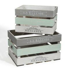 1000 images about cagettes on pinterest crates vintage for Maison du monde 974
