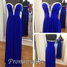 2015 Navy blue sweetheart neckline long prom dress for teens, ball gown, homecoming dress