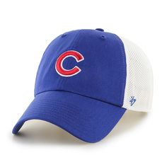 ce9c37fe675ca Chicago Cubs Adjustable Dirty Mesh Cap by  47