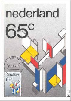The Netherlands 1983. Piet Mondriaan. De Stijl. Official First Day Card. Opposite Construction of a Special House. 1922.
