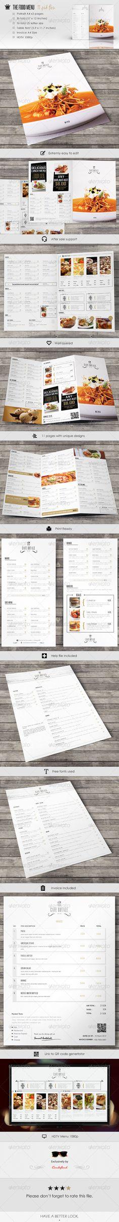 Menu pack 3 - #Food #Menus Print #Templates Download here: https://graphicriver.net/item/menu-pack-3/7523260?ref=alena994