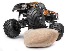 This is the 1/12 scale, electric powered, radio controlled, ready-to-run 4WD HPI Wheely King Monster Truck. FEATURES: Chassis: TVP (Twin Vertical Plate) plastic tube frame design with rear wheelie bar