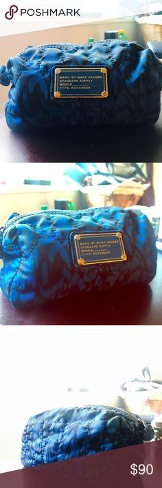 Marc by Marc Jacobs cosmetic bag Blue & black design, style discontinued great condition Bags Cosmetic Bags & Cases