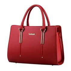 a0de1dc221 Womens Pure Color Pu Leather Boutique Tote Bags Top Handle Handbag     Continue to the product at the image link. (This is an affiliate link)