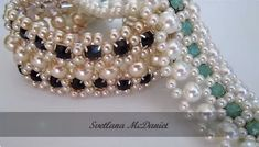 Crystal Cup Chain and Beadwork Jewelry Tutorials ~ The Beading Gem's Journal Crystal Cup Chain and Beaded Jewelry Tutorials ~ … Prom Jewelry, Seed Bead Jewelry, Bridal Jewelry, Crystal Jewelry, Beading Jewelry, Seed Beads, Beaded Jewelry Patterns, Bracelet Patterns, Beading Patterns