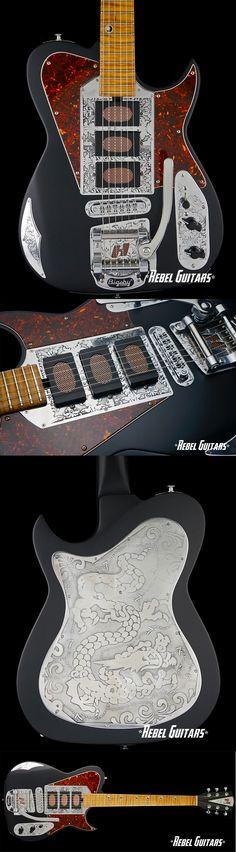 Rebel Guitars - Custom Harden Engineering Meteorite in Black #electric #guitar
