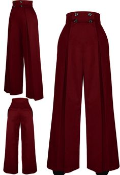 High Waist Retro 40s pants by Amber Middaugh