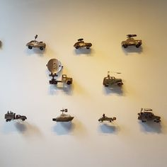 We have a fleet of vehicles made from salvaged metals from Cuban artist Wilay Méndez on display in our North Gallery - his work will be featured until July 29th.  #artxchange #cubanart #wilaymendez #sculpture #contemporarysculpture #upcycledart #salvagedmetal #salvagedmetalart #seattleart