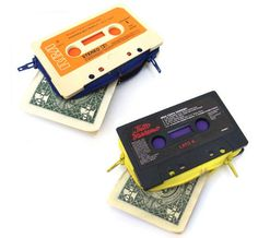 cassette tape wallets; def have one already! WHAT UP! (: